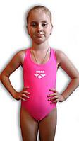 Купальник подростковый спортивный для бассейна. Arena. Розовый неон. 2065.1
