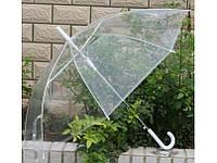 Зонт трость прозрачная