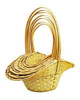 Корзины из лозы, набор желтый, 10 шт (HKD142 s/10) 50х50 см