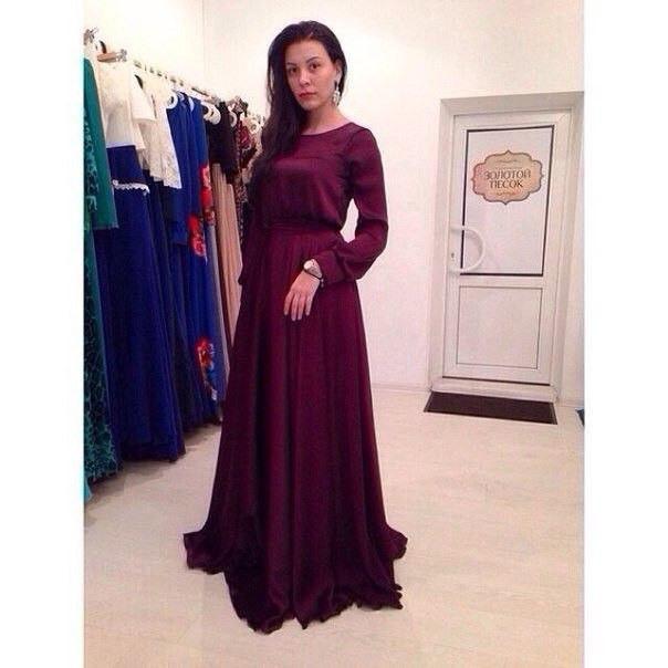 809eb1d91095b Длинное платье в пол с длинным рукавом, цена 820 грн., купить в Харькове —  Prom.ua (ID#353597049)