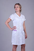 Женский медицинский халат с коротким рукавом (батист)
