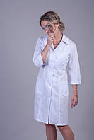 Женский белый медицинский халат  (батист)