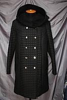 Женское стеганное пальто с кашемиром