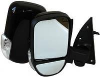 Комплект боковых зеркал с сигналом поворота, Газель, черные Vitol