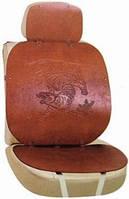 Накидка на сиденье, высокая, кожанная, коричневая, Vitol
