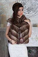"""Жилет из светлой куницы """"Веста""""  marten fur vest gilet, фото 1"""