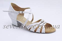 Туфли для бальных танцев ClubDance Б-2 белый лак