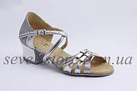 Туфли для бальных танцев ClubDance Б-2 серебро парча