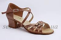 Туфли для бальных танцев ClubDance Б-2 бежевая кожа