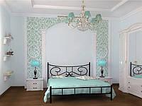 Кровать металлическая двуспальная Ювента