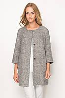 Женское осеннее пальто серого цвета. Модель ZZ528 Sunwear, коллекция осень-зима 2016-2017.