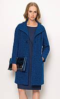 Женское пальто синего цвета. Модель ZZ529 Sunwear, коллекция осень-зима 2016-2017.