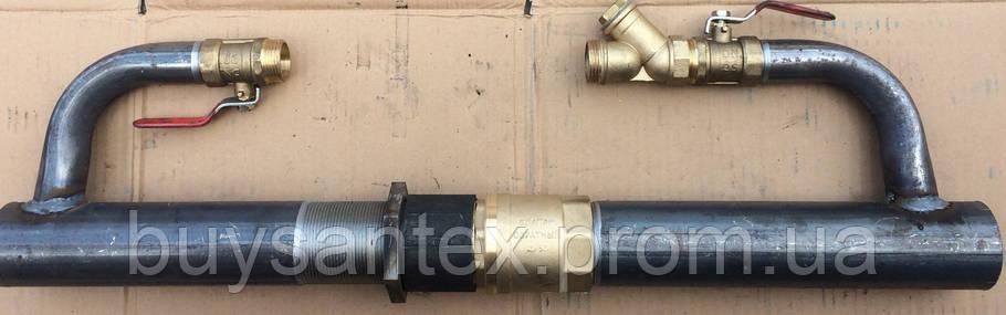 Байпас 50 мм длинный с латунным клапаном, фото 2