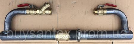 Байпас 40 мм длинный с латунным клапаном, фото 2