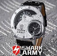 Мужские военные часы Shark Army SAW053, водонипроницаемые, минеральное стекло