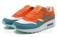 Женские кроссовки Nike Air Max 87 оранжево-голубые