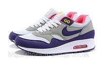Женские Nike Air Max 87 серо-фиолетовые, фото 1