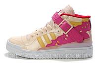 Женские кроссовки Adidas высокие лаковые, фото 1
