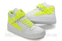 Женские кроссовки Adidas бело-салатовые
