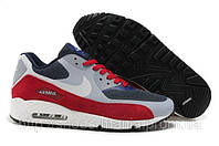 Кроссовки Nike Air Max 90 (red-grey-blue)
