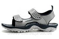Босоножки Adidas серо-черные А-10022-3