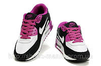 Женские кроссовки Nike Air Max 90 black-white-violet, фото 1