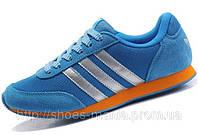 Кроссовки женские Adidas Lady Runner blue-orange, фото 1