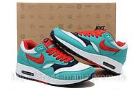 Женские кроссовки Nike Air Max 87 красно-голубые, фото 1