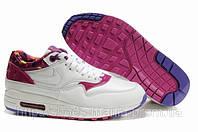 Женские кроссовки Nike Air Max 87 (бело/розовые)