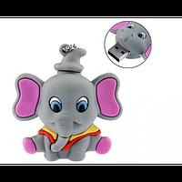 Детская резиновая флешка Слоник 8 ГБ