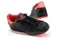 Кроссовки Adidas superstar  Черно-красные