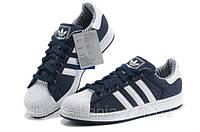Кроссовки Adidas Superstar blue-white