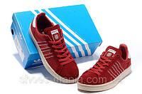 Кроссовки мужские Adidas Campus красно-белые, фото 1