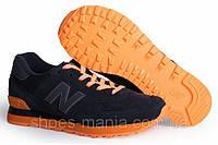 Кроссовки New Balance 574 black-orange, фото 1