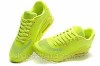 Кроссовки Nike Air Max 90 Hyperfuse салатовые N-10040-1