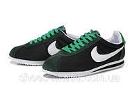 Мужские кроссовки  Nike Cortez (black-green), фото 1