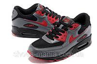 Кроссовки Nike Air Max 90 (black-grey-red), фото 1