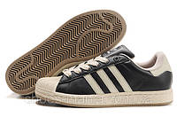 Adidas superstar brown-white-black, фото 1