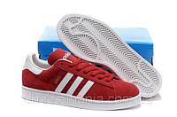 Кроссовки мужские Adidas Campus красные, фото 1