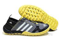 Кроссовки Adidas daroga серо-желтые, фото 1