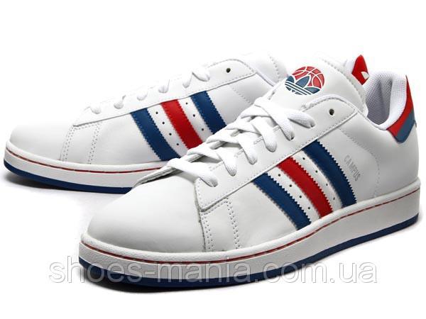 Кроссовки мужские Adidas Campus red-blue-white - Интернет магазин обуви  Shoes-Mania 2a59df3ffff