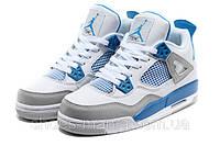 Баскетбольные кроссовки Nike Air Jordan 4 (white-grey)