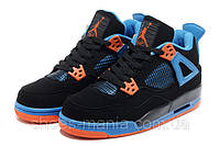 Баскетбольные кроссовки Nike Air Jordan 4 (black-orange)