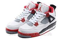 Баскетбольные кроссовки Nike Air Jordan 4 (white-red)