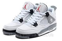 Баскетбольные кроссовки Nike Air Jordan 4 (white-grey-black)