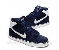Кроссовки Nike Dunk High 6.0 темно-синие