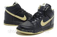 Nike Dunk High черные