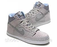 Кроссовки Nike Dunk High 6.0 серые, фото 1