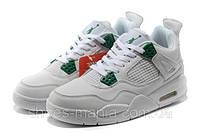 Баскетбольные кроссовки Nike Air Jordan 4 (white-green)