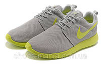 Кроссовки Nike Roshe Run (grey-yellow)